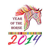 Horse symbol. Year of the horse — Vettoriale Stock