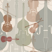 Music instruments seamless pattern — Stock Vector
