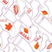 Contexte de vente automne — Vecteur