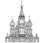 St Basil's Cathedral, Red Square, Moscow — Stock Vector