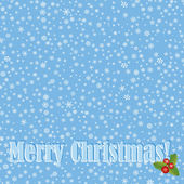 Christmas snow background. — Stock Vector