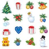 Natal ícone conjunto — Vetorial Stock