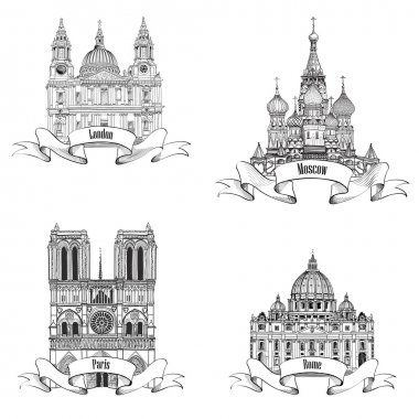 Notre Dame, St Paul, St. Peter, St. Basil Cathedral