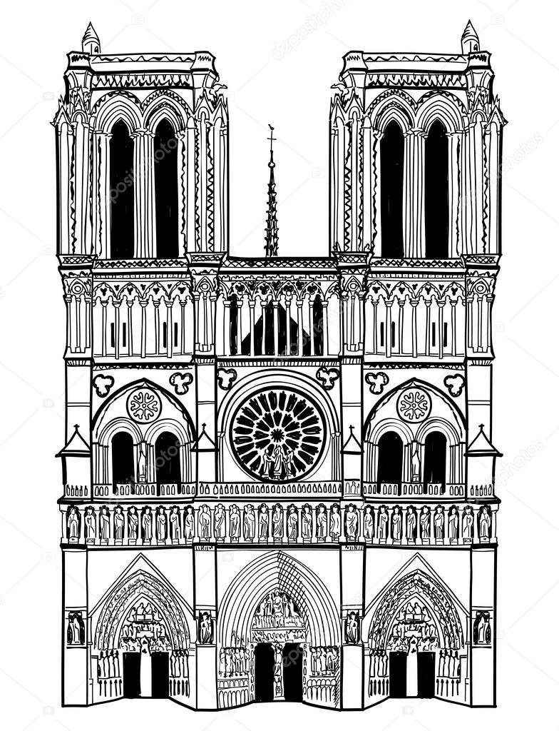 Notre Dame Cathedral Planta Notre Dame de Paris Cathedral