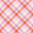 Fabric texture. Seamless tartan pattern. — Vector de stock