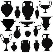 Ancient greek vase set. — Stock Vector