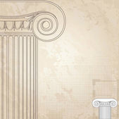 Classic columns seamless background. Roman column. — Stock Vector