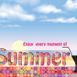 Summer holidays background. — Stock Vector