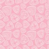 Love background. St Valentine's seamless pattern — Stock vektor