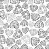Romantický vzor bezešvé se srdíčky. — Stock vektor