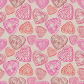 Love background. St Valentine's seamless pattern — 图库矢量图片