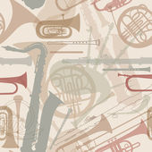 Music instruments seamless pattern. — Stock Vector