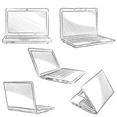 Laptop set. — Stock Vector