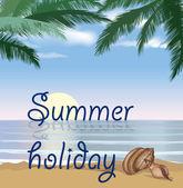 Fundo de férias de verão. — Vetor de Stock