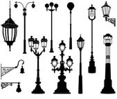 Street lamp — Vector de stock