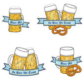 Octoberfest Beer icon set — Stock Vector