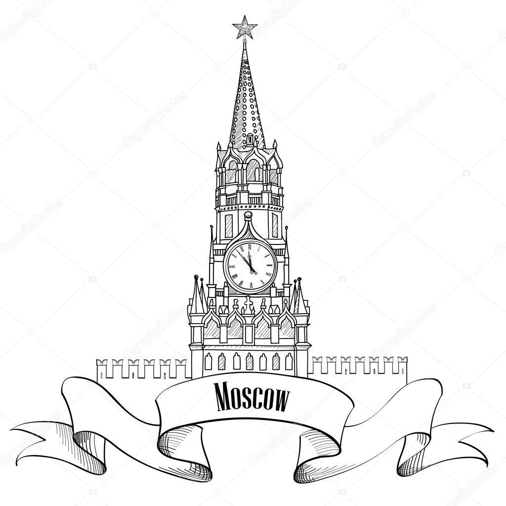 Картинки кремля раскраски