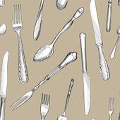 Cutlery background — Stock Vector