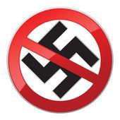 No Nazi icon — Stock Vector