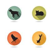 Conjunto de iconos para mascotas. — Vector de stock