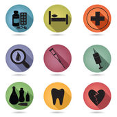 Medical icons set — Stock Vector