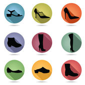 Shoes icons set — Stock Vector
