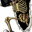 Foto Stock: Party Skeleton