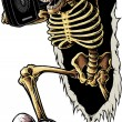 Party Skeleton - Stockfoto