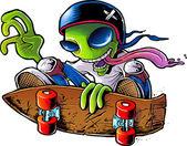 Alien Skater — Stock Photo