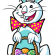 Royalty-Free Stock Photo: Easter bunny holding a basket