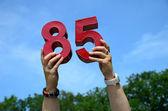 85 歳の誕生日 — ストック写真