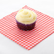 Stock Photo: One cupcake buttercream