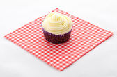 One cupcake buttercream — Stock Photo