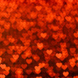 Many small glowing hearts — Stockfoto