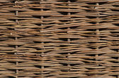 Wattle fence of willow — Stock Photo