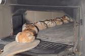 Baked bread fresh oven bread — Stock Photo