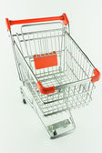 Shopping cart from steel — Stock Photo