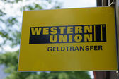 Western union logo — Stock Photo