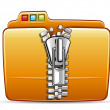 Folder icon with zip - Imagen vectorial