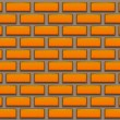 Stock Vector: Orange brick background