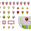 Map navigation icons - Image vectorielle