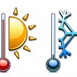 Two thermometers - Stock Vector