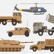 Stock Vector: Military transport collection
