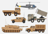 Military transport collection — Stock Vector