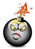 Cartoony bomba — Stok Vektör