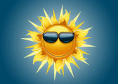 Cartoony sun — Stock Vector