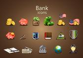 Ikony banku — Wektor stockowy
