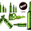 Bottles of beer — Stock Vector