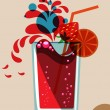 Summer cocktail - Stock Vector