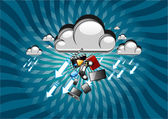 Clouds technology — Stock Vector
